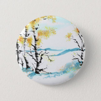 Birch and bunny 2 inch round button