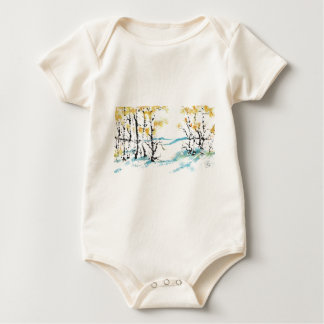 Birch and bunny baby bodysuit