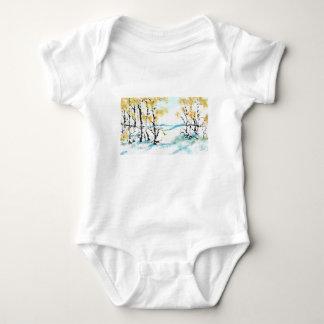 Birch and bunny baby bodysuit