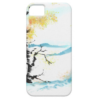 Birch and bunny iPhone 5 cover