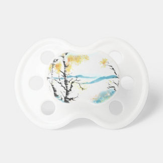 Birch and bunny pacifier