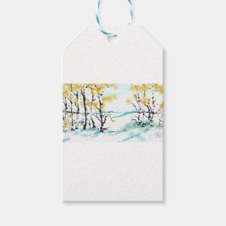 Birch and bunny pack of gift tags