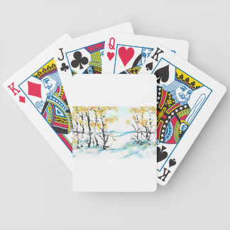 Birch and bunny poker deck