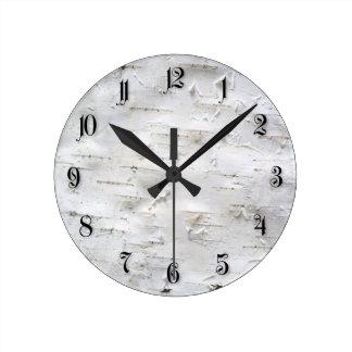 Birch bark clock