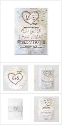 Birch Bark Countryside Wedding Collection