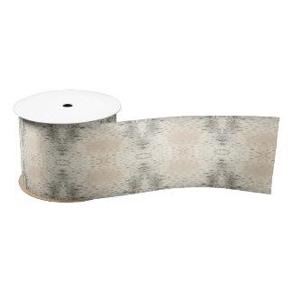 Birch Bark Design Satin Ribbon