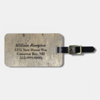 Birch Bark Look Custom Luggage Tag