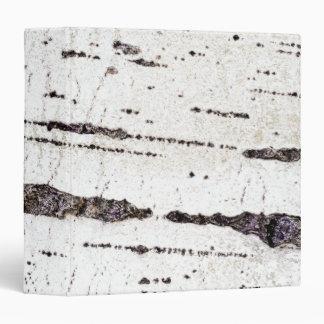 Birch bark pattern 3 ring binder