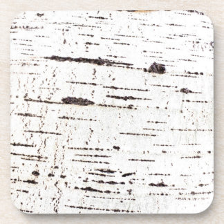 Birch bark pattern coaster