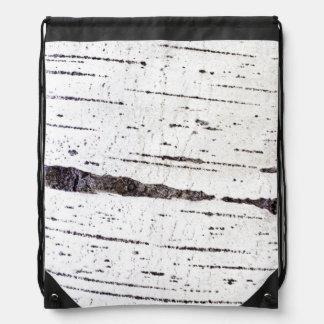 Birch bark pattern drawstring bag