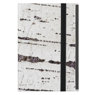 Birch bark pattern iPad mini cover