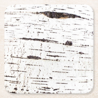 Birch bark pattern square paper coaster