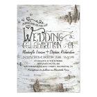 birch bark rustic country wedding invitation