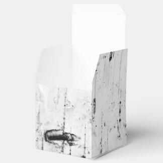 Birch bark texture party favor boxes