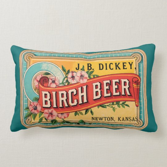 BIRCH BEER VINTAGE LABEL Pillow 33 cm x 53 cm