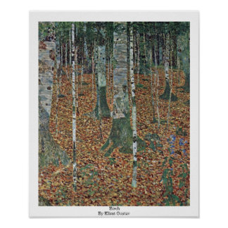Birch By Klimt Gustav Poster