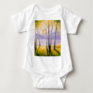 Birch by the river baby bodysuit