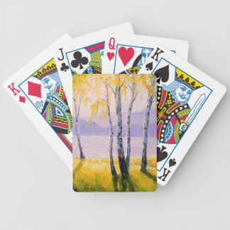 Birch by the river bicycle playing cards