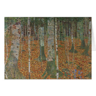 Birch Forest by Gustav Klimt, Vintage Art Nouveau Greeting Card