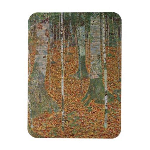 Birch Forest by Gustav Klimt, Vintage Art Nouveau Rectangle Magnets