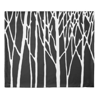 Birch Forest by Leslie Peppers Duvet Cover