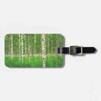 Birch forest luggage tag