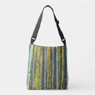 Birch Forest Painting Crossbody Bag
