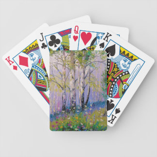 Birch grove bicycle playing cards