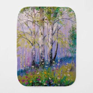 Birch grove burp cloth