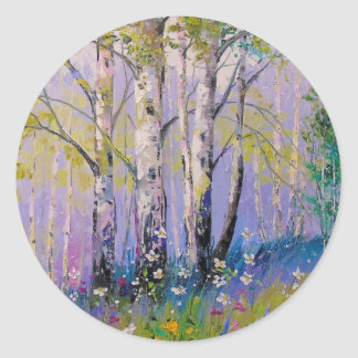Birch grove classic round sticker