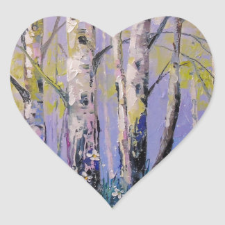 Birch grove heart sticker