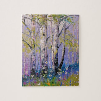 Birch grove jigsaw puzzle