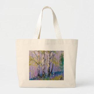Birch grove large tote bag