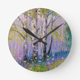 Birch grove round clock