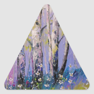 Birch grove triangle sticker