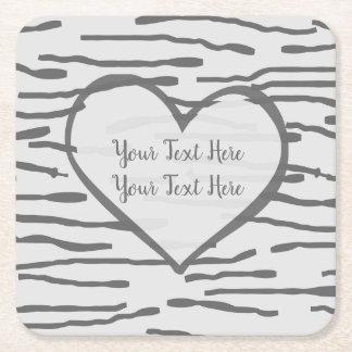 Birch heart Coaster