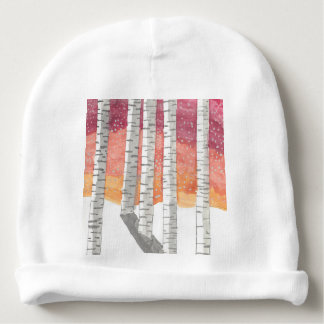 Birch In The Snow Baby Beanie
