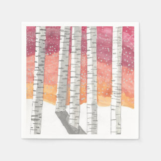 Birch In The Snow Disposable Napkins