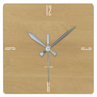 Birch-Look Clock