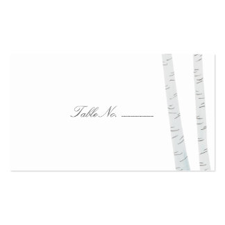 Birch Tree Guest Table Escort Cards Pack Of Standard Business Cards