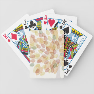 Birch Tree in Fall Colors Bicycle Playing Cards