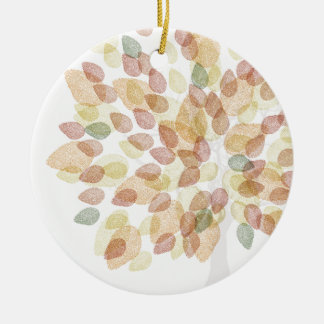 Birch Tree in Fall Colors Ceramic Ornament