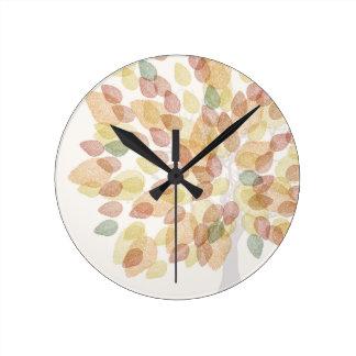 Birch Tree in Fall Colors Clock
