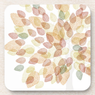 Birch Tree in Fall Colors Drink Coaster
