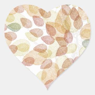 Birch Tree in Fall Colors Heart Sticker