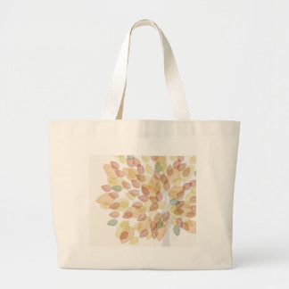 Birch Tree in Fall Colors Large Tote Bag