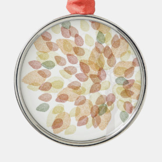 Birch Tree in Fall Colors Metal Ornament