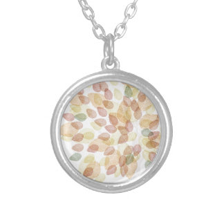Birch Tree in Fall Colors Silver Plated Necklace