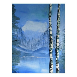 Birch Tree Postcard (vertical)
