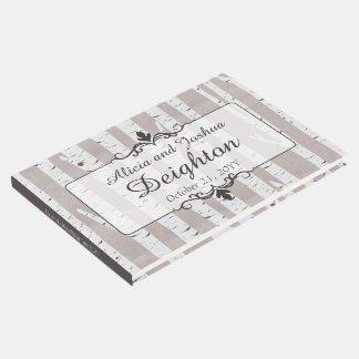 Birch Tree Rustic Nature Wedding Personalized Guest Book